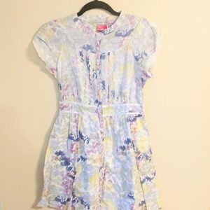 free people   floral cap sleeve button down dress